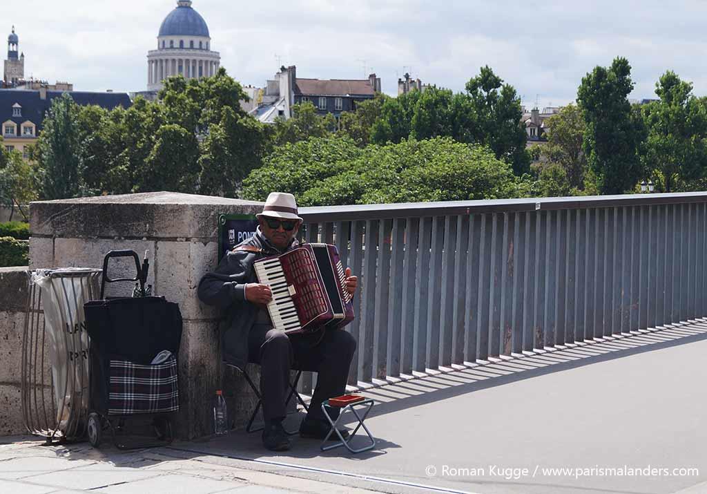 Akkordeon Spieler Paris Ile Saint Louis
