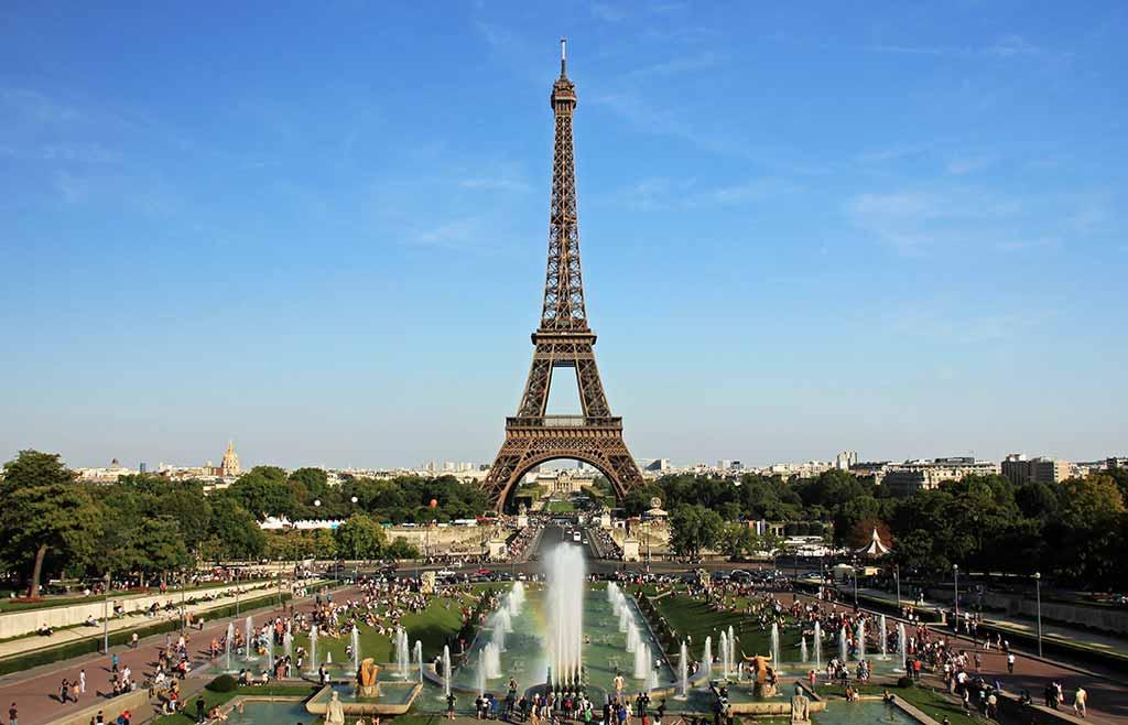 Eiffelturm vom Trocadero Foto