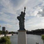 Freiheitsstatue Paris Blick von hinten