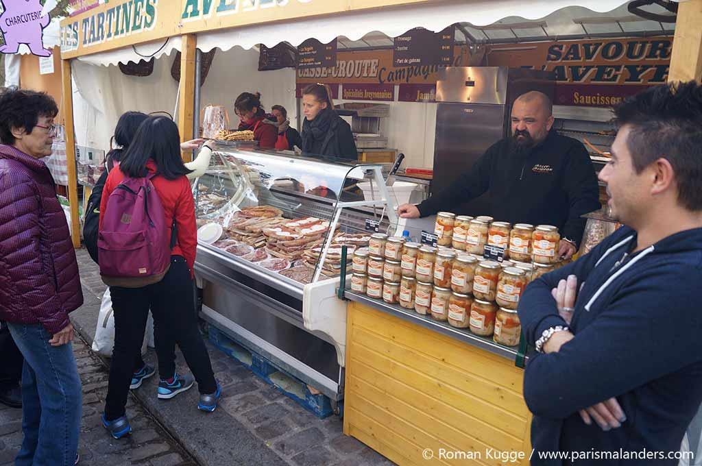 Montmartre Weinfest lokale Spezialitäten aus Frankreich