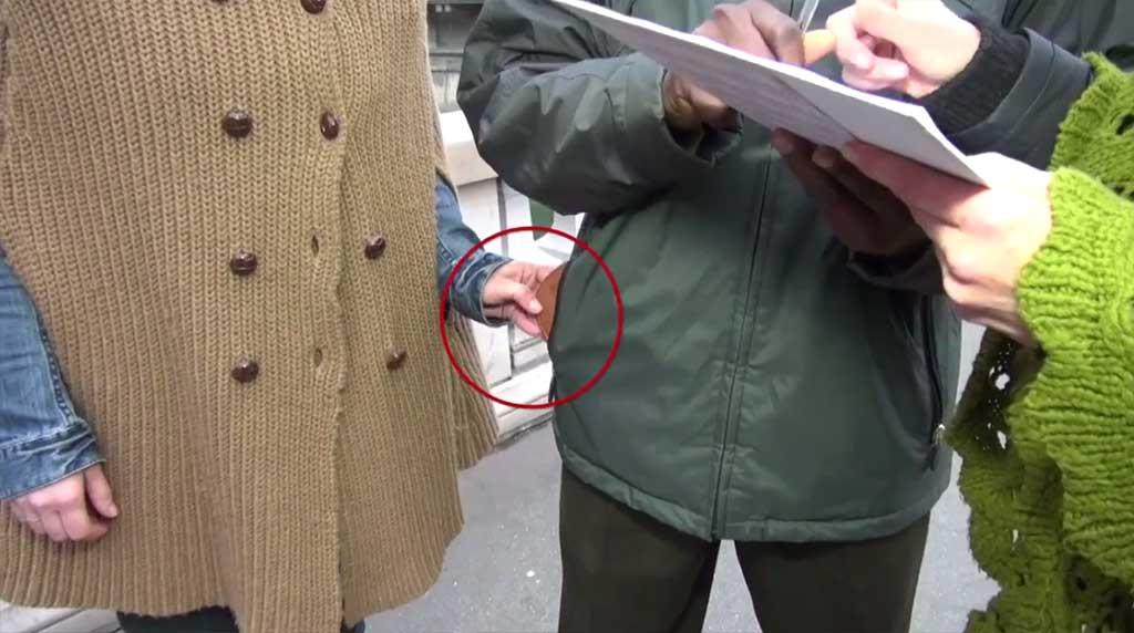 Pickpockets Paris Unterschriften Listen