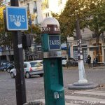 Taxisäule Paris Taxirufsäule