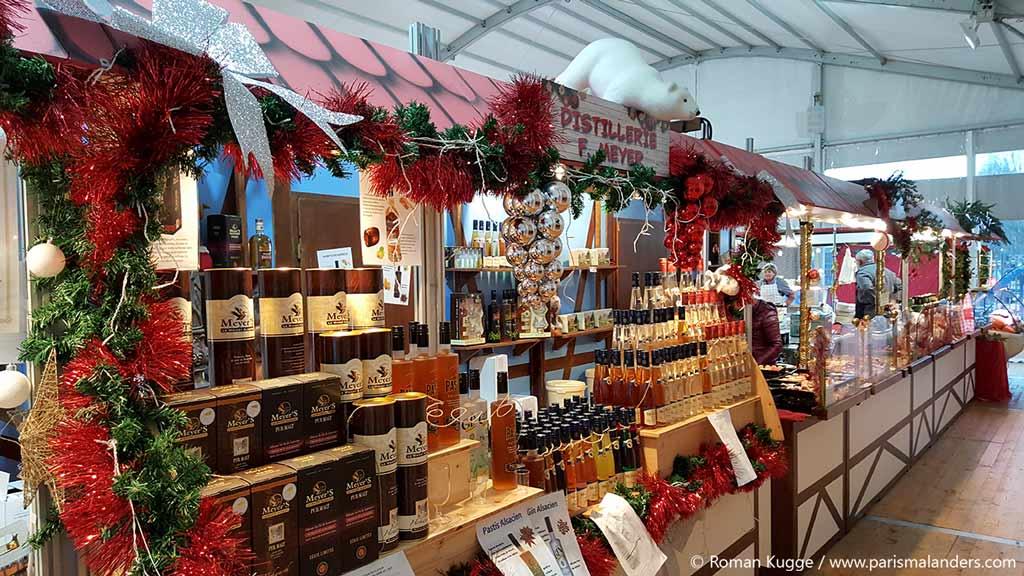 Weihnachtsmarkt Elsass Bahnhof Gare de l'Est Paris