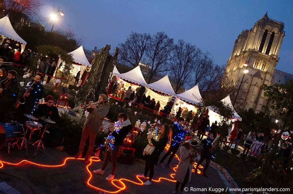 Weihnachtsmarkt Notre-Dame Paris