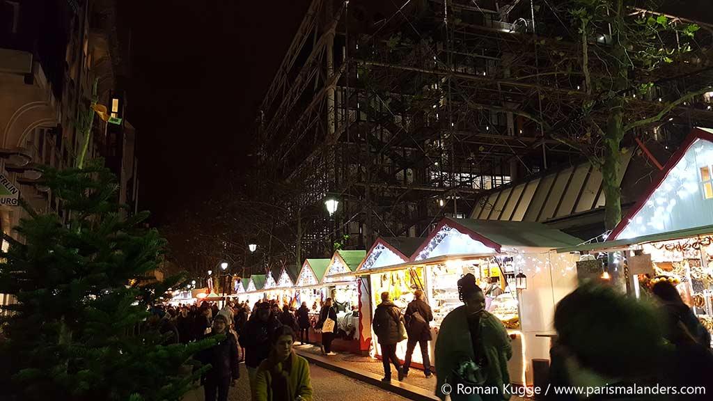 Weihnachtsmarkt Paris Centre Pompidou