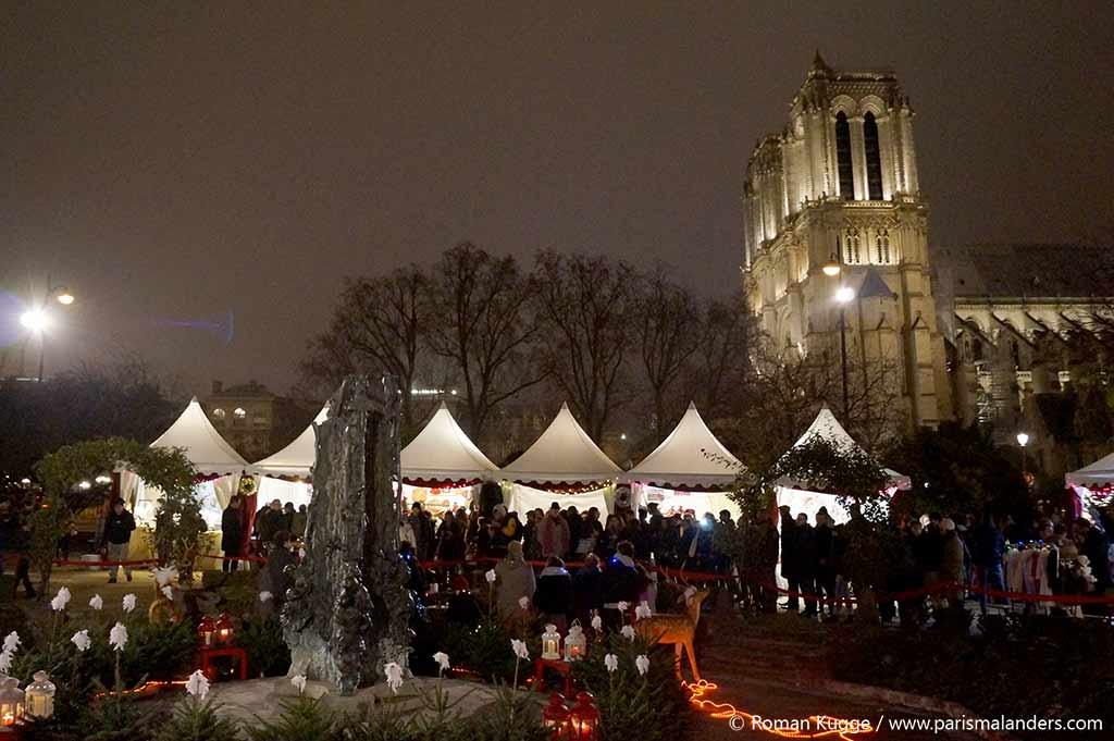 Weihnachtsmarkt Paris Notre-Dame