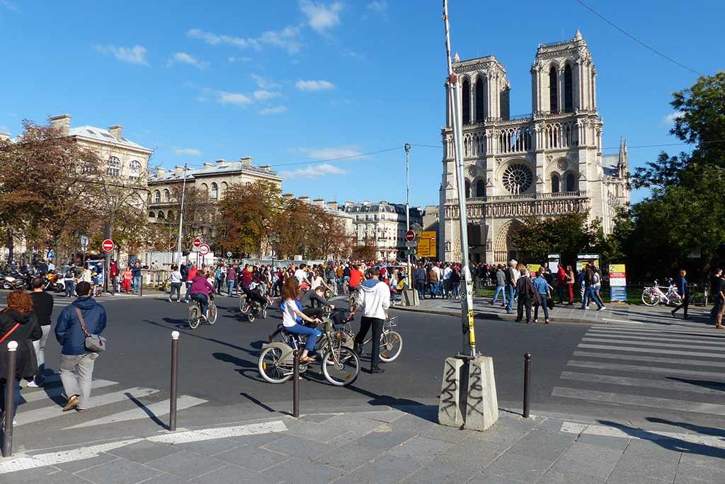 Tag ohne Autos in Paris