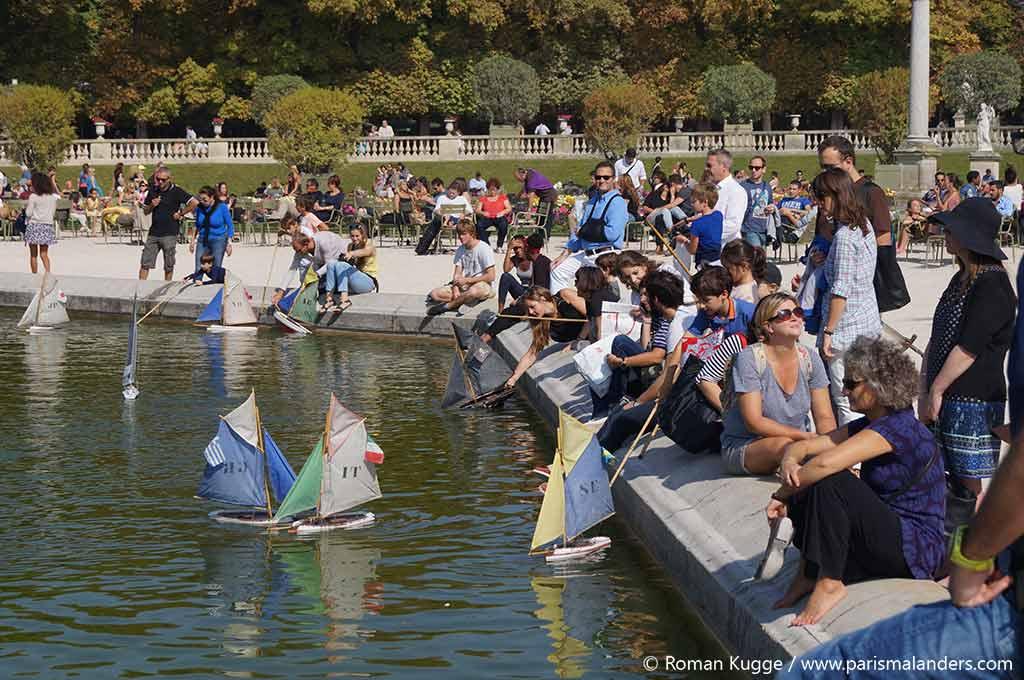 Becken Boote Jardin du Luxembourg Park Paris
