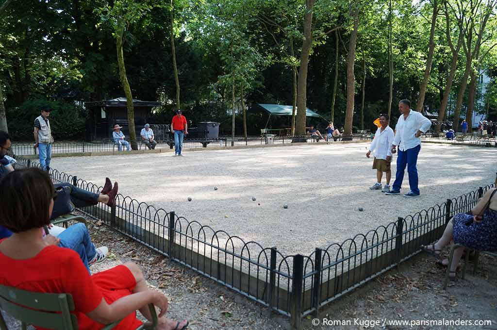 Bouleplatz Boccia Park Paris Jardin du Luxembourg