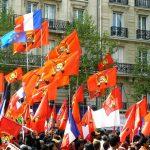 Demonstration 1. Mai in Paris Tag der Arbeit