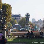 Jardin des Explorateurs Brunnen Quatre Parties du Monde PAris