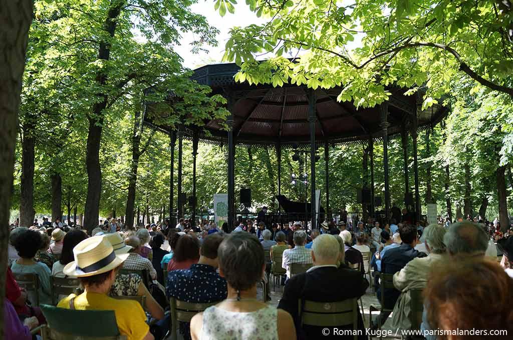 Kostenlos Konzert Park Jardin du Luxembourg Paris Pavillon