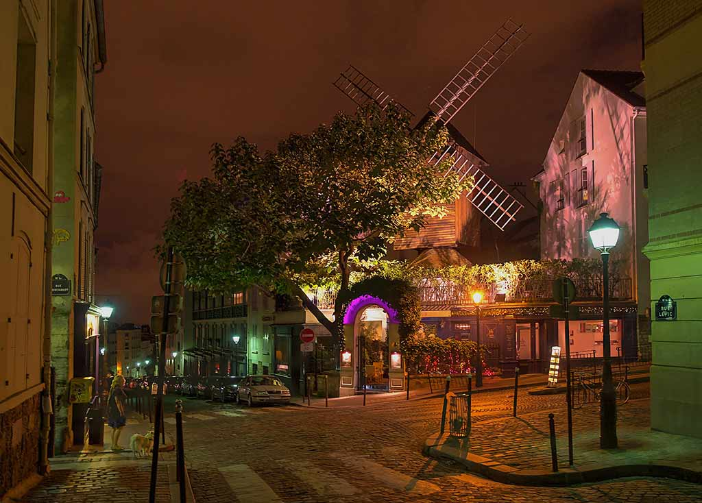 Montmartre Windmühle Romantik Paris