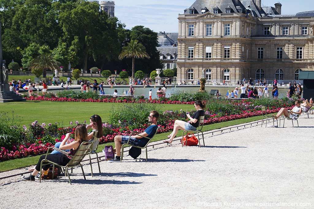 Romantischer Ort in Paris Medici Brunnen