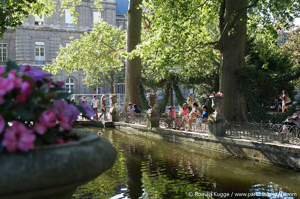 Romantischer Ort in Paris Medici Brunnen