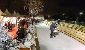 Schlittschuhlaufbahn Weihnachtsmarkt Eiffelturm