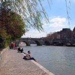 Seine Ufer Spaziergang Paris Romantisch