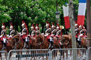 Zeremonie 8. Mai Paris Triumphbogen