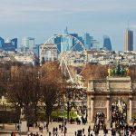 Historische Achse Weg des Triumphs Paris