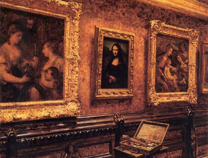Louvre 1911 Mona Lisa