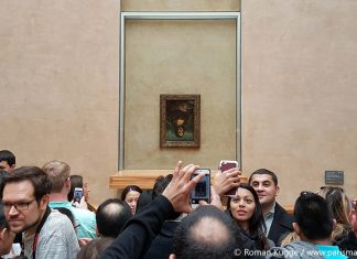 Die Mona Lisa verkehrt herum Louvre