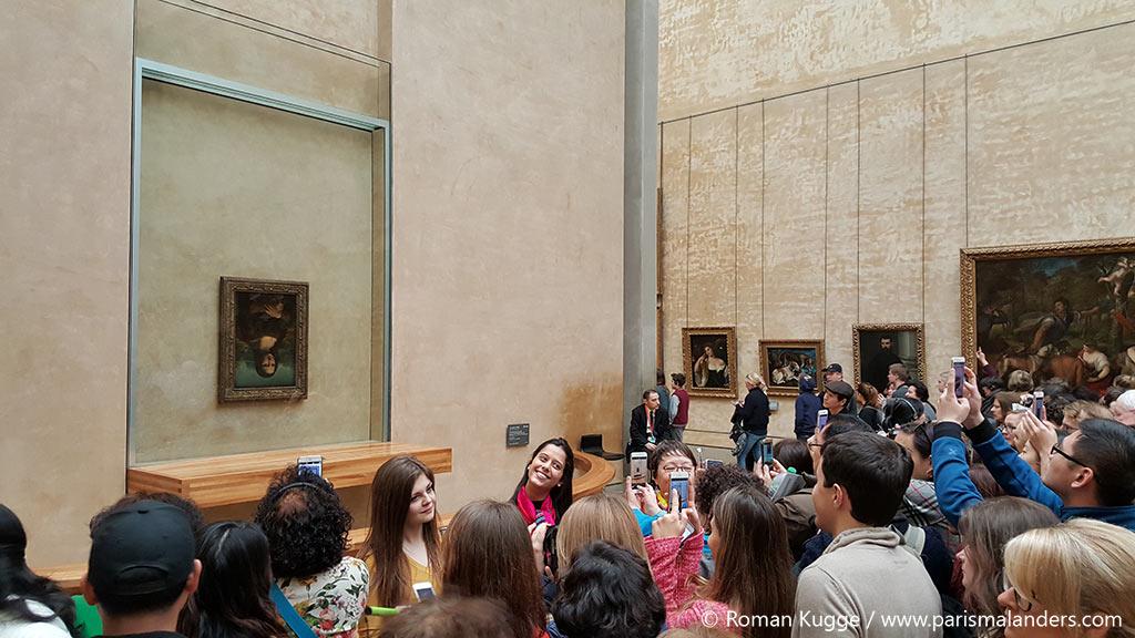 Die Mona Lisa verkehrt herum Louvre