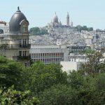 Parc Buttes Chaumont Blick auf Montmartre