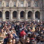 Warteschlange Anstehen Louvre