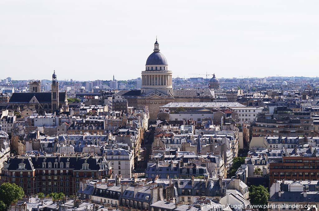 Ausblick Pantheon von Notre Dame