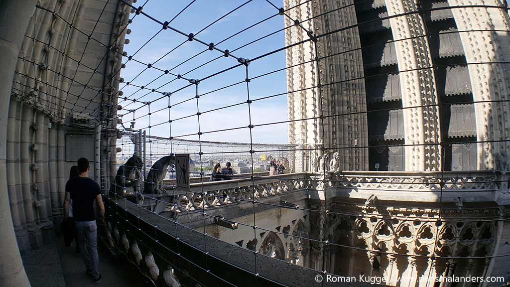 Notre Dame Höhenangst Gitter Sicherheit