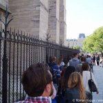 Wartezeiten Warteschlange Türme Notre Dame