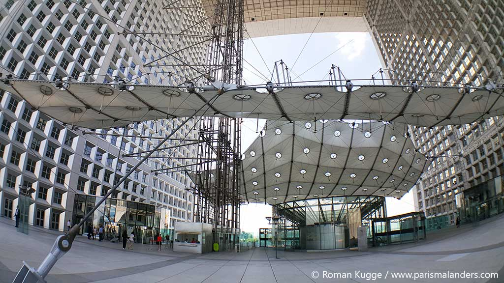 Grande Arche La Defense Dach Dachterrasse (2)