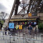 Eiffelturm zu Fuß über die Treppen Eingang