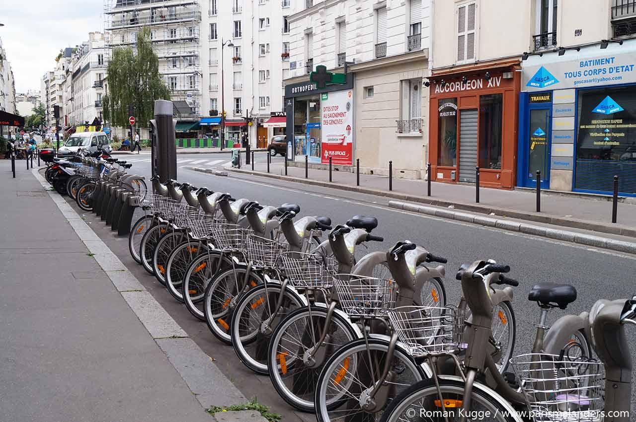 Velib Station Fahrradverleih Paris