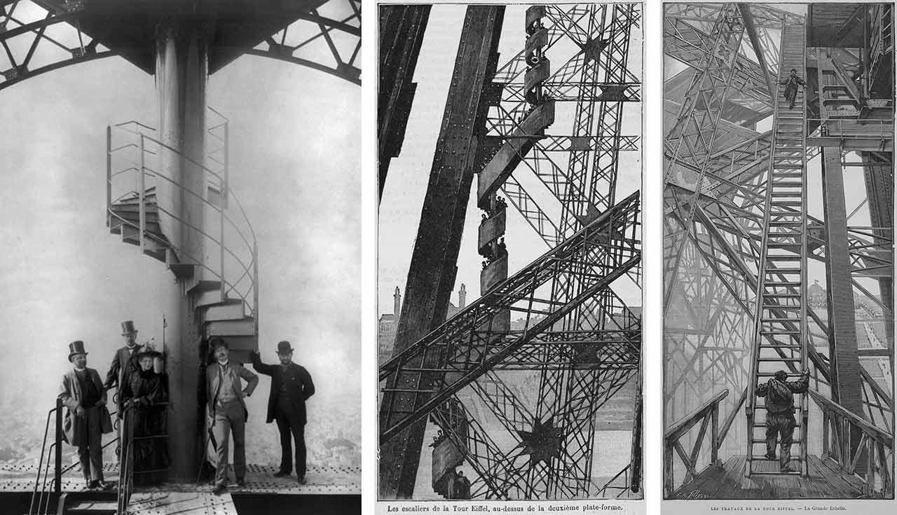 Wendeltreppe erstes Stockwerk Eiffelturm