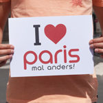 Erinnerungsfoto Paris mal anders A4