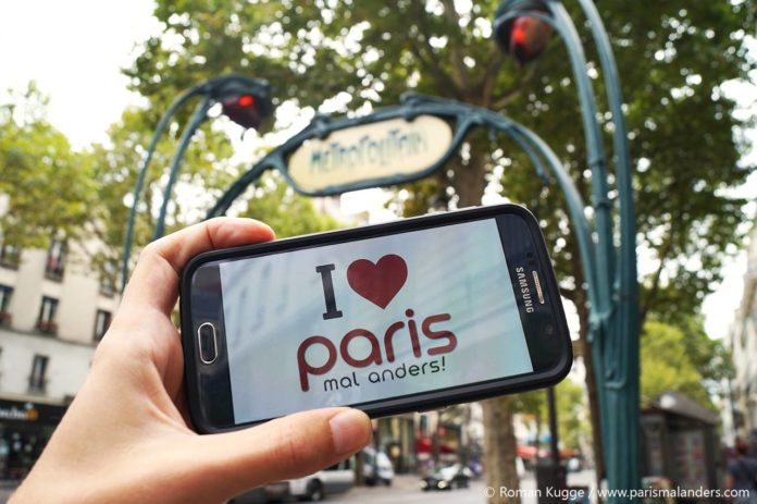 I love Paris mal anders Erinnerungsfoto