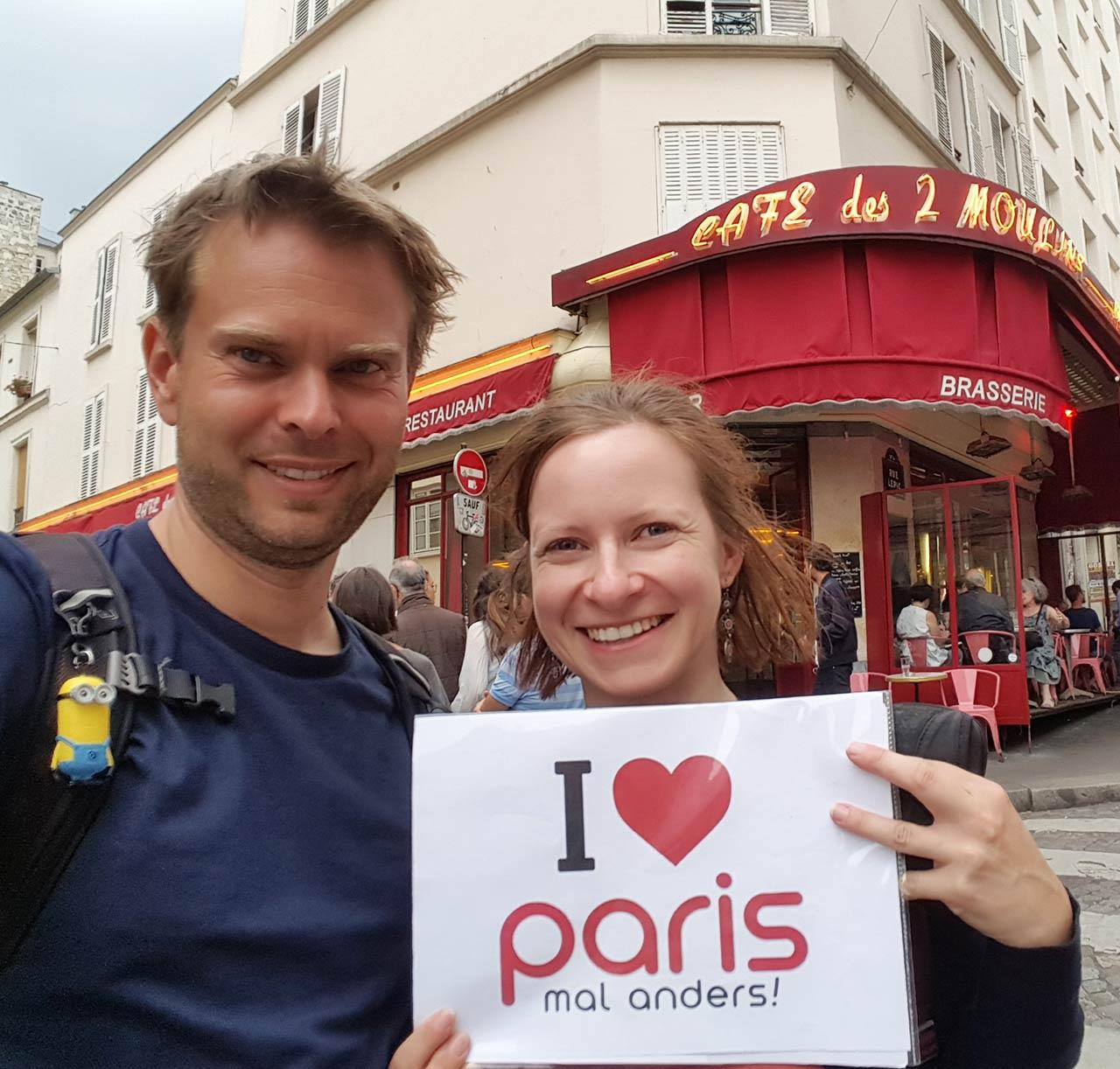 Erinnerungsfoto Paris mal anders Handy