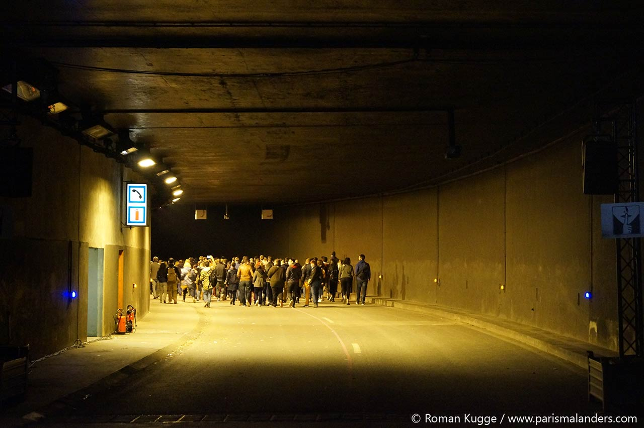Nuit Blanche Paris Tunnelspaziergang