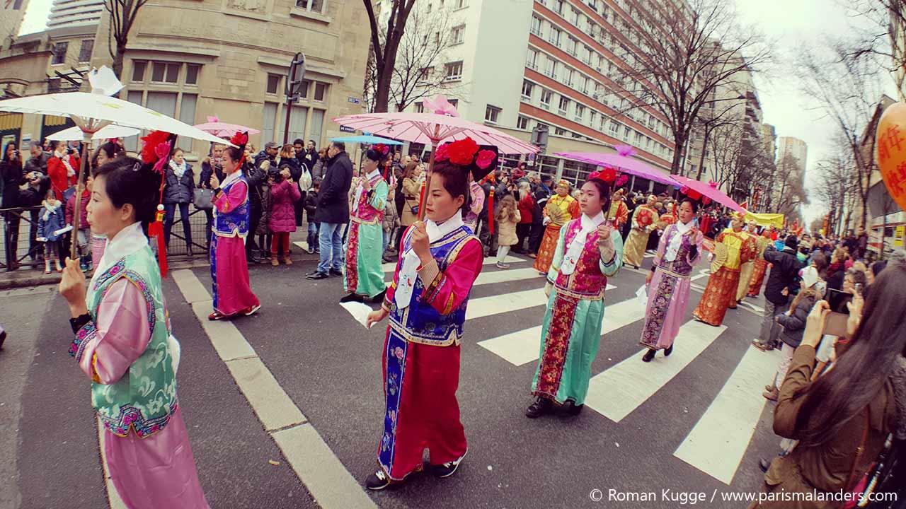 Chinesisches Neujahrsfest Paris Umzug