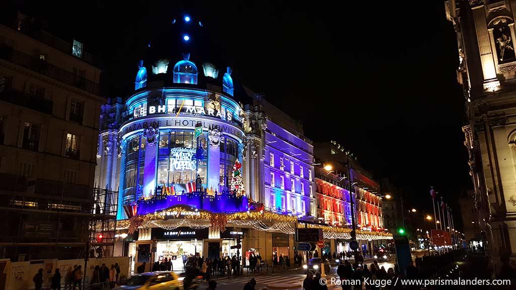 BHV Kaufhaus Paris Weihnachten Schaufenster