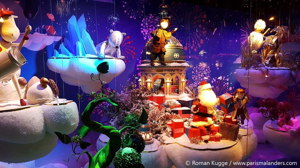 Weihnachten Paris Printemps Kaufhaus Schaufenster