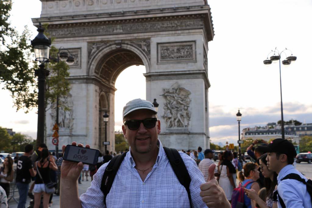 Erinnerungsfoto aus Paris