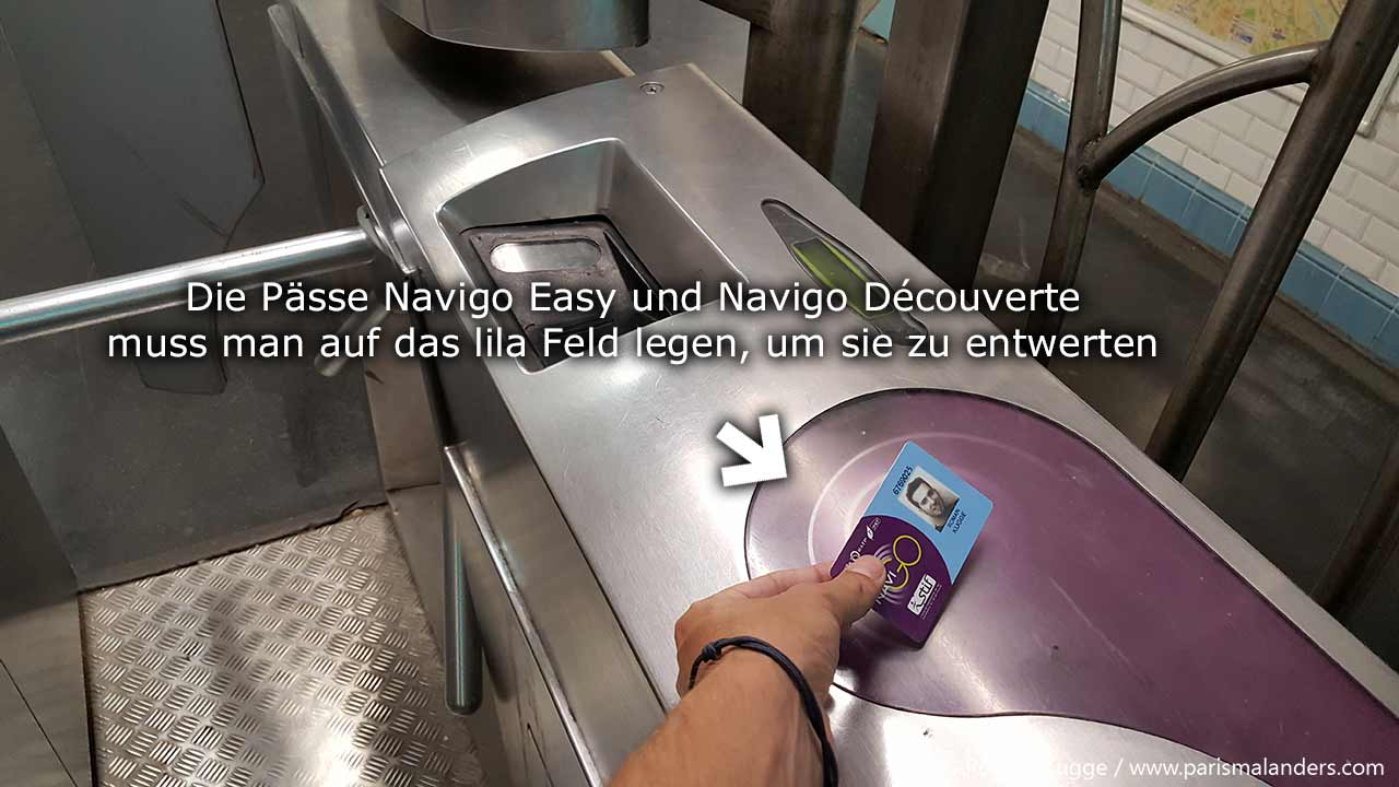 Navigo Pass entwerten