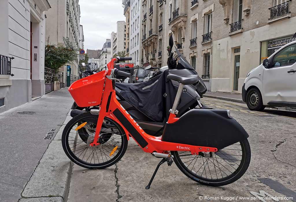 Jump Uber Fahrräder Paris
